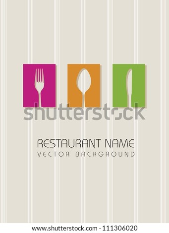 restaurant menu over beige background. vector illustration - stock vector
