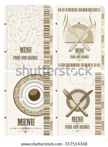 Restaurant menu set. - stock vector