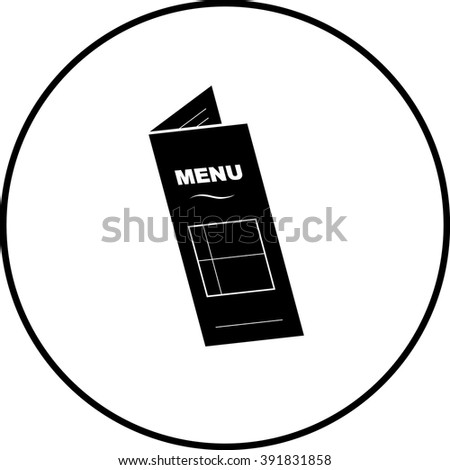 restaurant menu symbol - stock vector