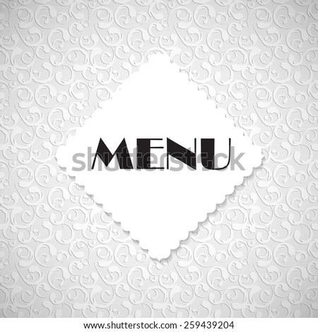 Restaurant Menu Template Vector Illustration EPS10 - stock vector
