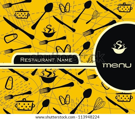 Restaurant menu vector - stock vector