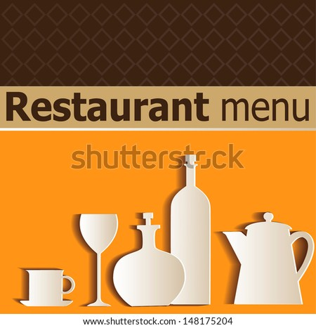 restaurant menu with the ware image - stock vector