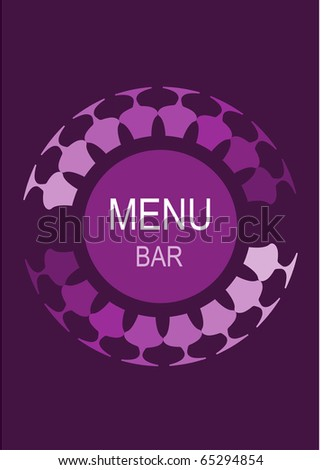 restaurant or bar menu template, vector illustration - stock vector