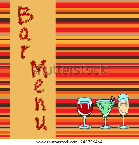 Restaurant or wine bar menu design. Seamless vector illustration - stock vector