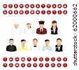 Restaurant People Icons And Map Icons Vector Set, Isolated On White Background, Vector Illustration - stock vector