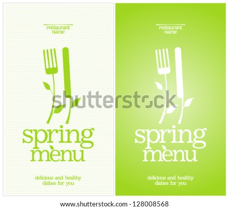 Restaurant Spring Menu Card Design template. - stock vector