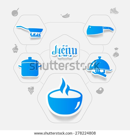 restaurant sticker infographic - stock vector