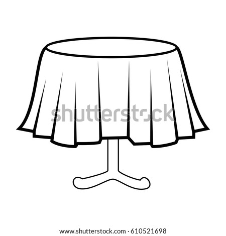 round table clipart black and white. restaurant table isolated icon round clipart black and white d