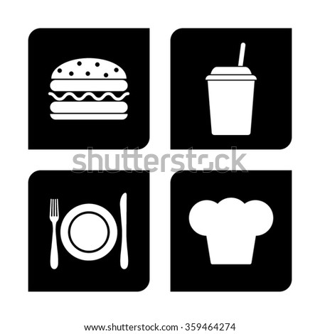 restaurant  vector icon set
