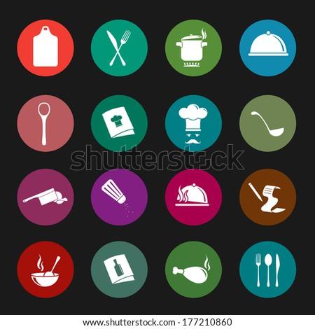 Restaurant vector icons - stock vector