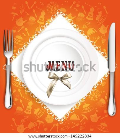 restaurant vector menu design - stock vector