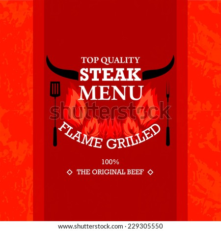 Restaurants Steak Menu Design / Grill Menu Design  - stock vector