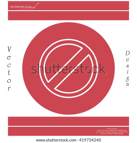 restricted line icon, vector design website