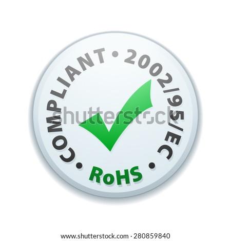 Restriction of Hazardous Substances Compliant - stock vector