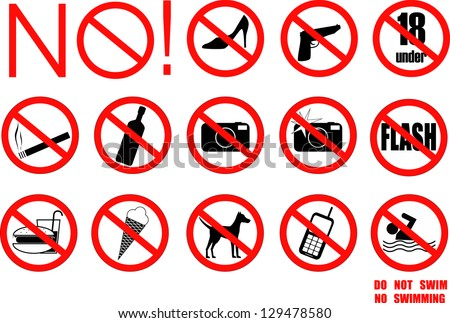 Restriction signs. vector - stock vector