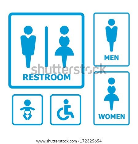 Restroom sign - stock vector