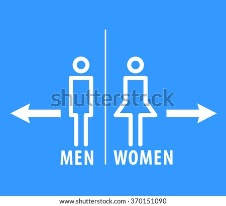Restroom sign male and female.    - stock vector
