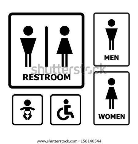 Restroom Sign vector - stock vector