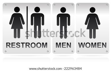 Restroom signs - stock vector