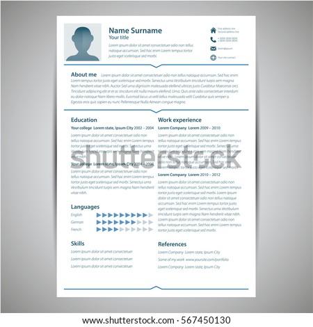 Clean Resume CV   Hudson   Resume styles  Cv resume template and