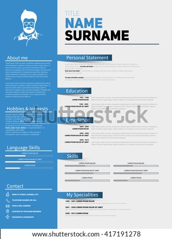 Curriculum Vitae Stock Images, Royalty-Free Images & Vectors