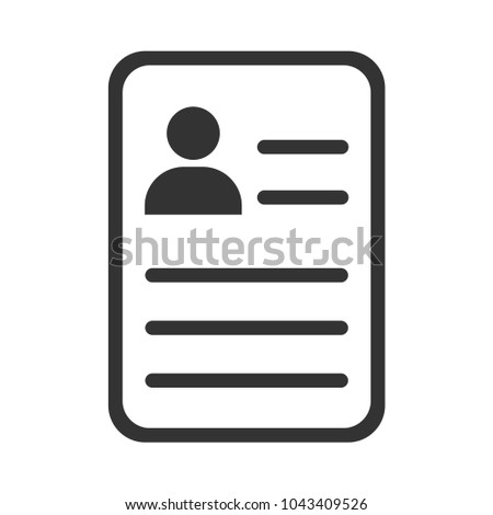 Resume Questionnaire Form Icon Stock Vector 1043409526 Shutterstock
