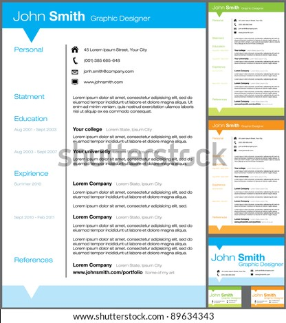 resume templates vector - Resume Template Free Vector