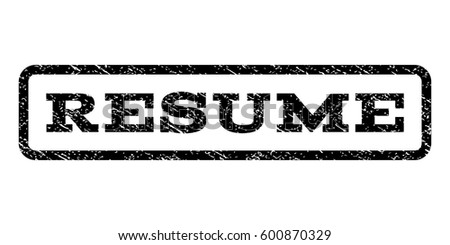 resume watermark stamp text tag inside stock vector 600870329