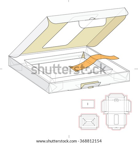 Retail Box with Window and Die Cut Template