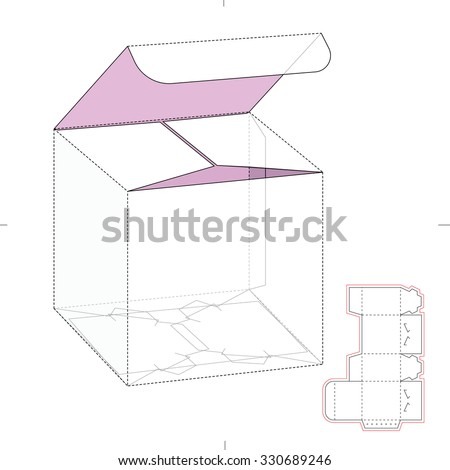 Retail Cube Box Die Line Template Stock Vector   Shutterstock