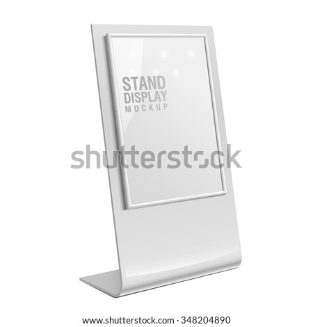Retail Trade Stand stand banner on the white background. Mock Up Template. Vector illustration. - stock vector
