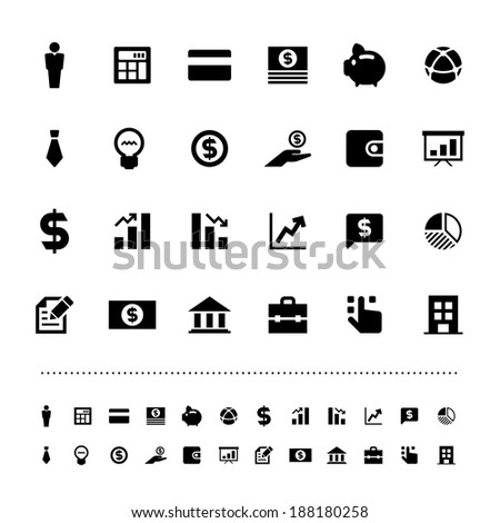 Retina business and finance icon set .Illustration eps10 - stock vector