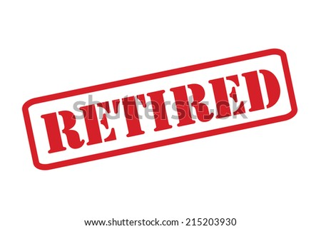 RETIRED Rubber Stamp vector over a white background. - stock vector