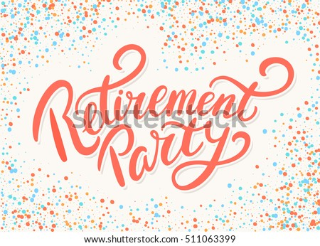 retirement party banner stock vector royalty free 511063399 rh shutterstock com Funny Retirement Clip Art Happy Retirement Clip Art