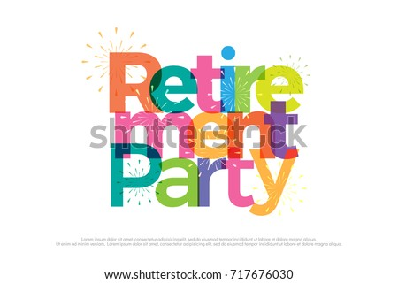 Retirement party colorful fireworks on white stock photo photo retirement party colorful with fireworks on white background retirement party logo design for banner stopboris Images