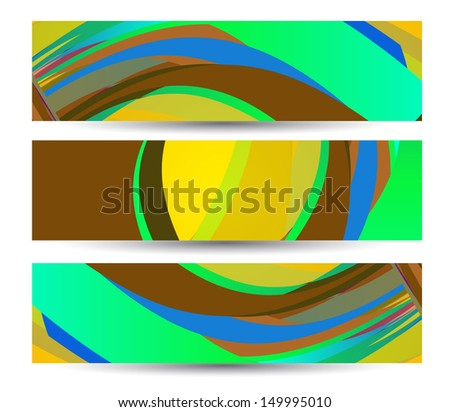 Retro abstract banner for your design, colorful digital Illustration.