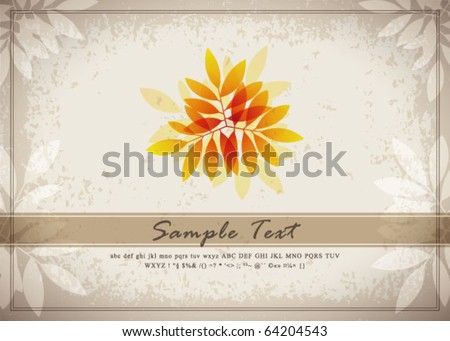 retro abstract flora background 05 - stock vector