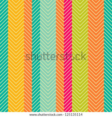 Retro abstract herring-bone seamless pattern - stock vector