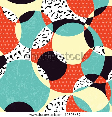 Retro abstract seamless pattern. EPS 10 vector illustration. - stock vector