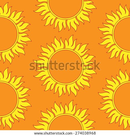 Retro abstract seamless pattern with  suns