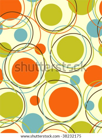 retro - abstract seamless vector pattern - stock vector