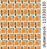 Retro Abstract Vector Tiki Polynesian Stone Background Pattern Texture - stock vector