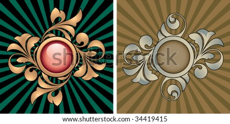 Retro abstracts with decorative elements