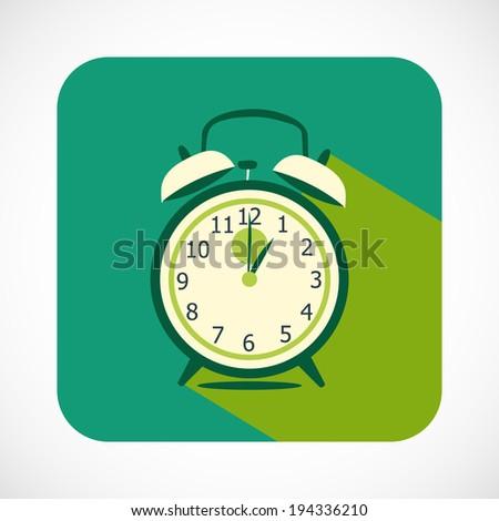 Retro Alarm Clock Button - stock vector