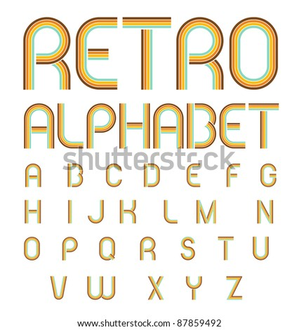 Retro Alphabet - stock vector