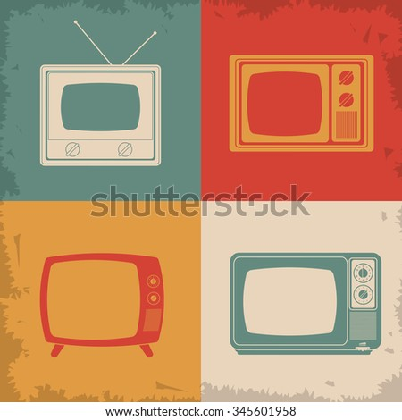 Retro and old Television concept design, vector illustration 10 eps graphic. - stock vector