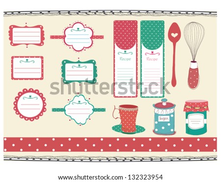 retro and sweet recipe tags