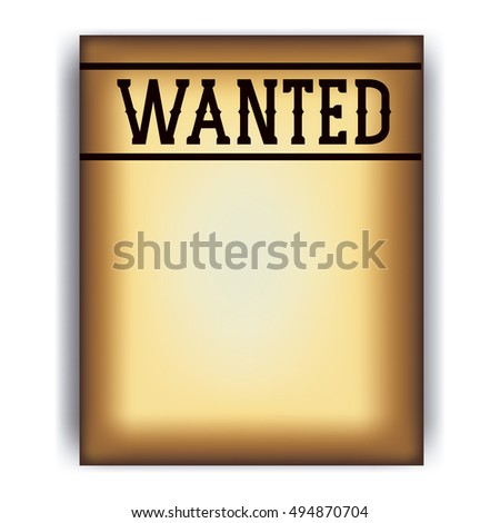 Western Wanted Sign Images RoyaltyFree Images Vectors – Wanted Sign Font