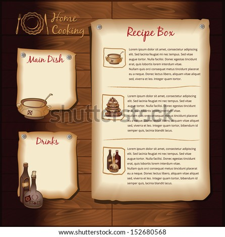 Recipe template stock images royalty free images vectors retro background for food recipe menu template forumfinder Images