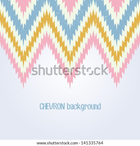 Retro background in feminine pastel color. Beautiful chevron texture. Abstract invitation card with zig zag ornament. Classic background. Background for your textile or skin design.